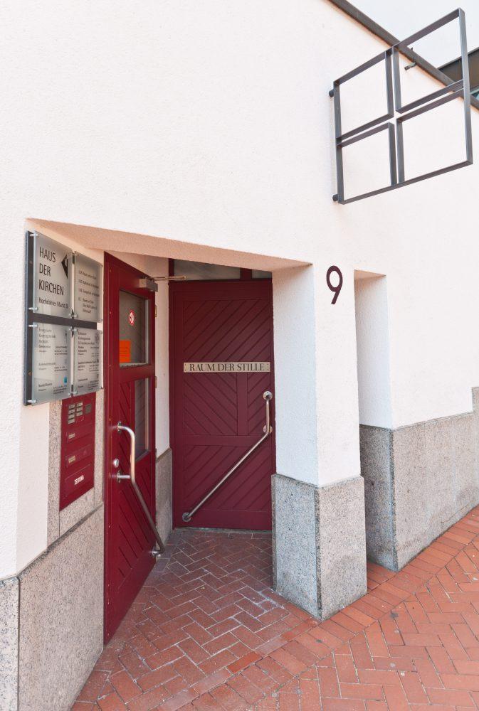 Eingang zum Gemeindebüro