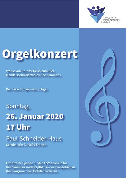 Orgelkonzert am 26.01.2020