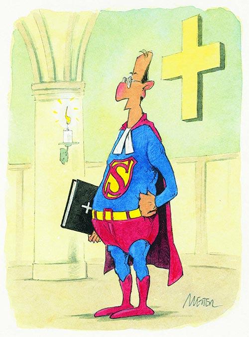 Schnell war klar, was für einen Pfarrer unsere Gemeinde sucht. (Grafik: Mester)